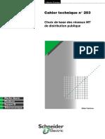 Schneider Electric - Cahier Technique 203 - Choix de Base Des Réseaux MT de Distribution Publique