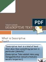 Descriptive Text Grade x