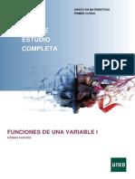 Funciones de una variable I - Guia completa 2018-2019