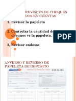 Pasos de Revision de Cheques Depositados en Cuentas