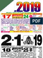 Dinasari calendar 2019