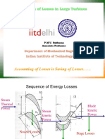 Estimation of Losses in Large Turbines