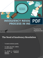 Insolvency Resolution Process under IBC