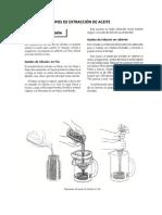 Tipos de Extracción de Aceite