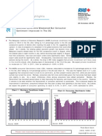 Economic Highlights - Business Conditions Weakened But Consumer Sentiment Improved In The 3Q - 20/10/2010