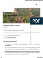 Job Interview Preparation - MyWorld