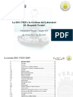 ISO 17025 - Requisiti Tecnici