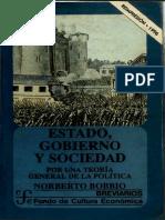 Bobbio, Norberto. - Estado, Gobierno y Sociedad [1996]