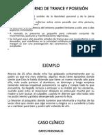 TRASTORNOS DE TRANCE Y POSECIÓN F44.3