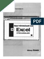 İnşaat Mühendisleri İçin Excel Uygulamaları[Günay ÖZMEN]