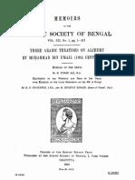 (Memoirs of the Asiatic Society of Bengal 12.1) H. E. Stapleton, M. Hidayat Husain, M. Turab Ali - Three Alchemical Treatises by Muhammad Ibn Umail-The Asiatic Society (1933)