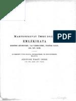 Szopori Nagy Imre - Martonfalvy Imre deak emlekirata 1551-1585 nov 29 (1881)