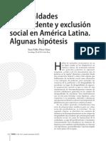 Perez Sainz, J.P. Desigualdades de excedente y exclusió