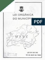 Lei 001 de 1990 - Lei Orgânica Do Município