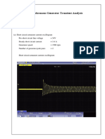 Synchronous Generator Transient Analysis