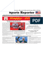 January 1 - 8, 2019  Sports Reporter