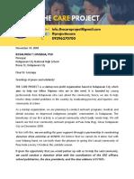 Letter for KCNHS