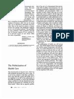 The Politicization of Health Care