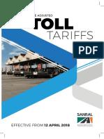 Toll Tariffs 2018