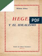 Hegel y el idealismo - Dilthey