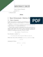 Bases ortonormais e Matrizes ortogonais