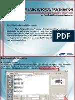MICROSTATION BASIC Tutorial Presentation