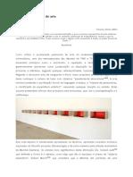 A Critica Do Objecto de Arte, 2003