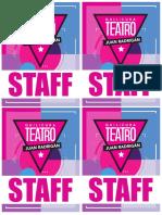 Credencial Teatro