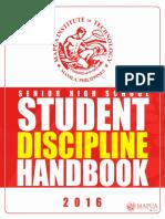 Shs Student Discipline Handbook