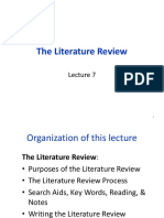 Lecture7 the Literature Review Chap7