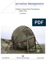 Concrete Sound Mirror, Cinque Ports Training Area, Hythe, Kent