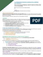 TEM 4. La Organizacion de La Prevencion de Riesgos Laborales en La Empresa
