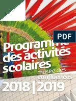 Programmation Scolaire 2018 2019