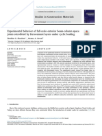 Experimental Behavior of Full-scale Exterior Beam-column Space Joints Retrofitted by Ferrocement Layers Under Cyclic Loading