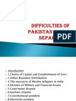 6 Difficulties of Pak After Sep