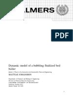 Dynamic model os a bubbling fluidized bed - Mattias Johansson.pdf