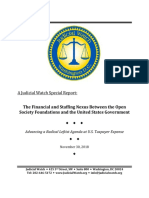 Judicial Watch Open Society Foundations 2018