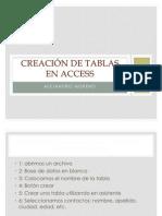 Creacion de Tablas en Access Preactica 3