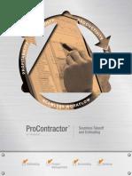 Procontractor-estimating Brochure
