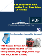 Removal of Suspended Fine Particulate Matter From Raw Juice PPT Scribd