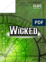 2016 Wicked Program CLOC Musical Theatre
