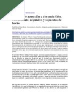 El Delito de Acusación y Denuncia Falsa. Fundamentos facticos y juridicos, Requisitos y Supuestos de Hecho
