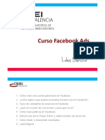 Curso Facebook Ads CEEI 8h Mazo 2017