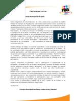 Carta Invitación Elecciones de Consejos Municipales de NIñez,Adolescencia y Juventud RED NNAJ - Membretado