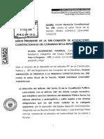 Ampliación de denuncia constitucional de Gloria Montenegro a Pedro Chávarry
