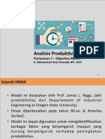 Analisis Produktivitas OMAX Model Teknik Industri