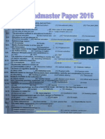 PPSC Headmaster Paper 2016. First Time PDF