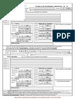 Planilla de Novedades Laborales - NL-01