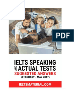 7. IELTS Speaking Actual Tests (Feb - May 2017)