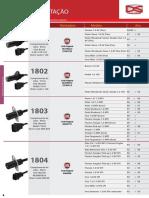 Sensor de Rotação. Produto Código Montadora Modelo Ano Sensor de Revolución _ Crankshaft Position Sensor. Fiorino 1.3 8v (Fire) 03_00